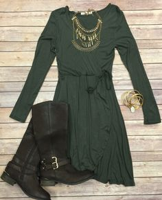 Wrap Dress is perfect for day or night. 95% rayon 5% spandex