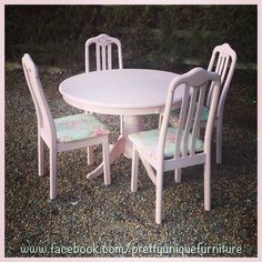 """#ascp #anniesloan #antoinette #chalkpaint #chair #chairs #distressed #distressedfurniture #etsy #forsale #handpainted #instahome #loveit #morethanpaint #pink #paintedfurniture #prettyuniquefurniture #refurbished #shabby #shabbychic #tableandchairs #upcycled #vintage"" Photo taken by @prettyuniquefurniture on Instagram, pinned via the InstaPin iOS App! http://www.instapinapp.com (03/07/2015)"