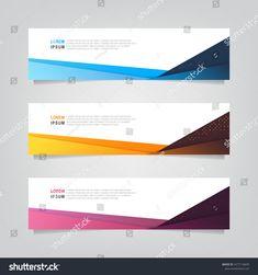 Vector Abstract Web Banner Design Template Stock Vector (Royalty Free) 1617116695