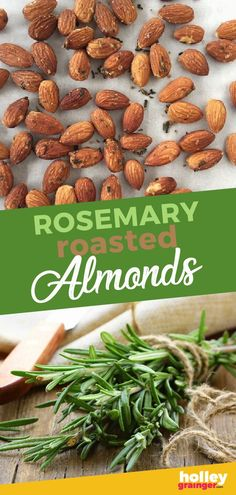 Rosemary Roasted Almonds - Sweet, salty, spicy, fresh and loaded with a rich nutty flavor, you can't beat Rosemary Roasted Almonds for a go-to snack when the munchies hit! | Holley Grainger | Roasted almond recipes | Almond recipes | healthy snacks | almond snacks | roasted nuts || #almonds #roastednuts Cheap Clean Eating, Clean Eating Snacks, Clean Meals, Healthy Protein Snacks, Healthy Sweets, Gluten Free Puff Pastry, Snack Recipes, Healthy Recipes, Diet Recipes