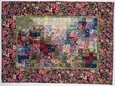 lost garden gloves ... watercolor quilt