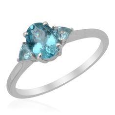 Sz 5 - Genuine Paraiba Apatite Sterling Ring $29.95| KarmicBazaar - Jewelry on ArtFire