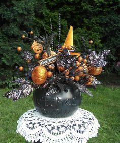 Halloween Floral Arrangement / Halloween by englishrosedesignsoh, $57.99