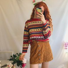 thick vintage knitted jumper. a - Depop Autumn 08ab75583