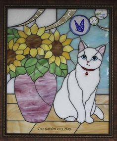 夏の訪問者 Stained Glass Quilt, Stained Glass Ornaments, Stained Glass Birds, Stained Glass Projects, Stained Glass Patterns, Wood Mosaic, Mosaic Glass, Tiffany, Small Quilt Projects