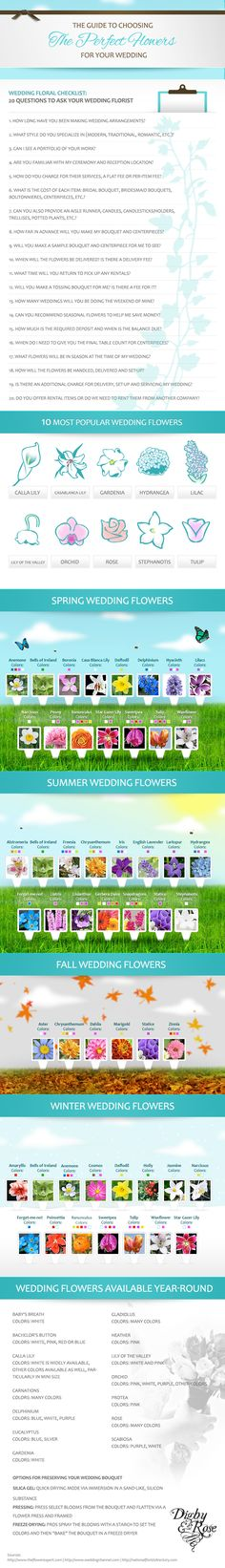 WED - The Magazine: a digital wedding magazine for today's Bride & Groom - WED for Brides - Complete Guide to Choosing The Perfect Wedding Flowers {Infographic from Digby & Rose}