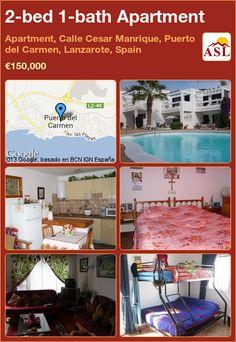 2-bed 1-bath Apartment in Apartment, Calle Cesar Manrique, Puerto del Carmen, Lanzarote, Spain ►€150,000 #PropertyForSaleInSpain