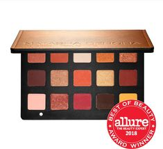Shop Natasha Denona's Sunset Eyeshadow Palette at Sephora. It features 15 shades in matte, duo chrome, metallic, and chroma crystal finishes. Dark Shades, Light Shades, Matte Red, Deep Brown, Beauty Awards, Gold Sparkle, Iron Oxide, Eyeshadow Palette, Sephora