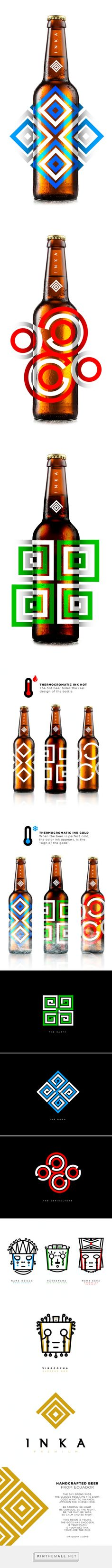 Inka Premium #Beer #packaging http://www.packagingoftheworld.com/2015/01/inka-premium-beer-concept.html