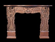 UNUSUAL AND IMPRESSIVE CARVED MAHOGANY FIRE SURROUND - UK Architectural Heritage