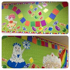 Library Candyland / Candy Land bulletin board