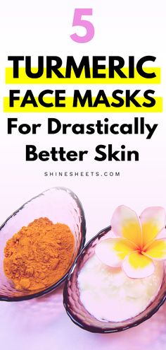 Turmeric Benefits For Skin + 5 Turmeric Face Mask Recipes To Try Facial Brown Spots, Dark Spots On Skin, Gel Face Mask, Face Masks, Turmeric Benefits For Skin, Diy Turmeric Face Mask, Turmeric Recipes, Anti Aging Mask, Aloe Vera Gel