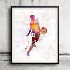 Man soccer football player 10 Fine Art Print Glicee by Paulrommer