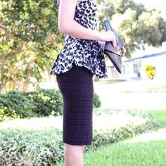 Stretchy black pencil skirt With pleat details. Comfy and stretchy. Skirts Pencil