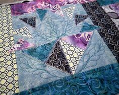 Quilted table Runner A Sampler in turquoise by KimsCraftyApple, $32.00