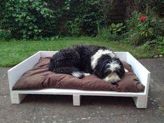 Abenteuer Hausbau in der Heide : DIY Paletten-Hundebett für Pepe