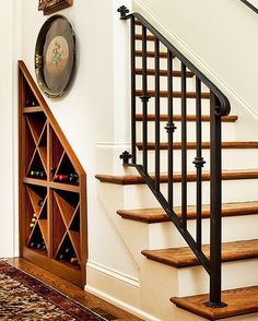 Exquisite wine storage unit under the stairs