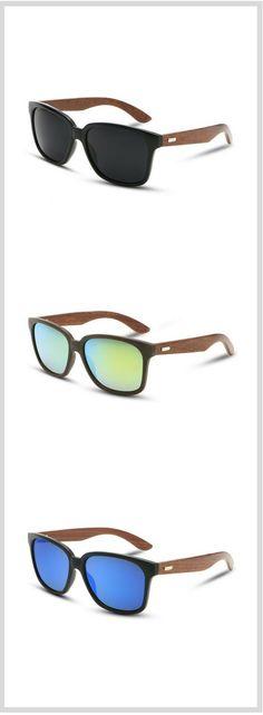 e18872b8cc8d Men s Wooden Sunglasses. Dark Bamboo wood frame UV400 lenses. Free  Worldwide Shipping   30