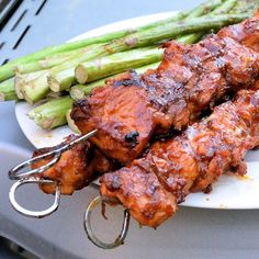 Barbecued Chicken Kebabs
