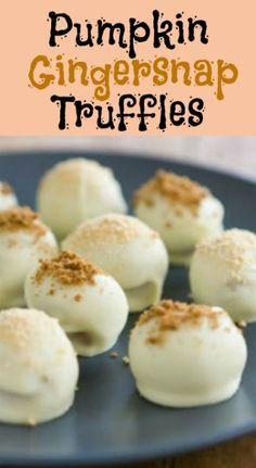 Pumpkin Gingersnap Truffles Recipe     whatscookingamerica.net    #pumpkin #truffles #candy