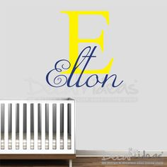 Nursery Wall Decals: Baby name Decal, Childrens Name Decal, monogram name decal, Alphabet wall Decal, Custom Nursery Wall Decal, Personalized Name Decal