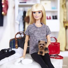 I'm back! After weeks of fabulous fashion month travel it's great to be home in LA with Ms. Honey.  #barbie #barbiestyle