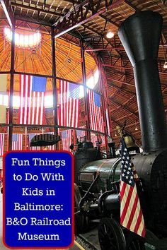 Fun Things to Do With Kids in Baltimore: B&O Railroad Museum - Sunshine Whispers  http://www.sunshinewhispers.com/2015/06/fun-things-to-do-with-kids-in-baltimore-bo-railroad-museum/