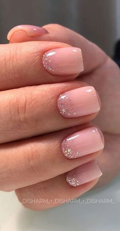 Soft Nails, White Acrylic Nails, Pink Acrylic Nails, Neutral Nails, Simple Nails, Pretty Gel Nails, Pretty Short Nails, Shiny Nails, Short Pink Nails
