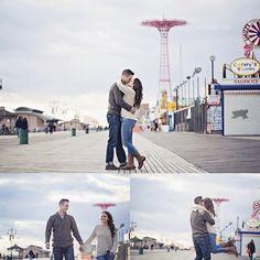 Coney Island is a great venue for a wedding or photo shoot for the couple that are kids at heart.  #funweddingvenues #romance #uniquenjvenues #coneyisland #njweddingvenues #engagmentideas #weddingideas #uniqueweddingideas #njbride