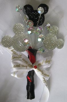 Disney Wedding Boutonniere by artseero on Etsy, $25.00