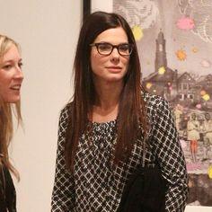 Sandra bullock looking good in glasses