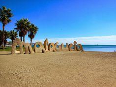 Malagueta beach in Malaga, Spain, our favourite hangout for the day.