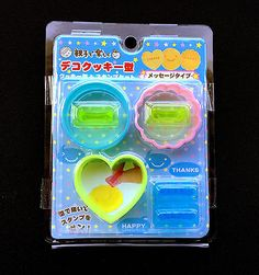 Bento Lunch  Box Accessory  Cookie Cutters With Word Stamps Heart Circles