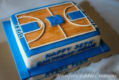 Duke Blue Devils Basketball Court Cake - Cake by Jennifer's Edible Creations