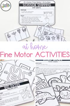 Are you trying to teach families with distance learning?Are you using take home packets during this school closure?Homeschooling and need some preschool activities?These At Home Fine Motor Activities are what you need! Gross Motor Activities, Preschool Learning Activities, Preschool Lesson Plans, Preschool Classroom, School Closures, Early Education, Student Learning, Fine Motor, Classroom Management