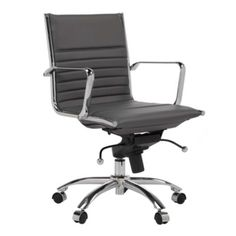 Malcolm Office Chair - Grey from Z Gallerie