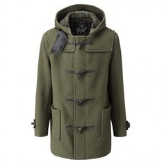 Gloverall Mid Length Duffle Coat, Kale