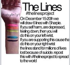 The lines. Pray for those who don't know how to deal. Suicide prevention