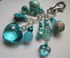 Love my turquoise chunky Heart bag charm NEW by sunnyteddy on Etsy, £5.00