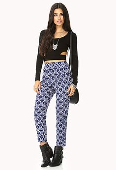 Striking Waverly Print Pants | FOREVER21 - 2000129102