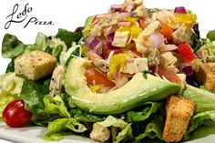 Ledo Pizza - SALAD - SKINNY AVOCADO & CHOPPED CHICKEN-finally some low calorie food!