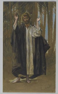 Saint Simon, between 1886 and 1894, James Tissot (1836–1902), opaque watercolor over graphite on gray wove paper (Brooklyn Museum)