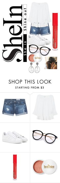 """""""Untitled #253"""" by samarjawaid ❤ liked on Polyvore featuring AG Adriano Goldschmied, Velvet, adidas and Terre Mère"""