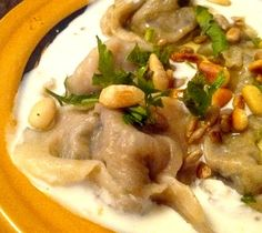 Chich barak, raviolis syriens, sauce au yaourt {Syrie}