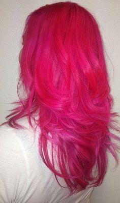 Hot pink hair!