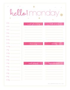 Getting Organised  – Part 2 (with free printables)