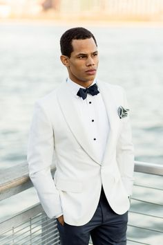 Groom style for a nautical wedding