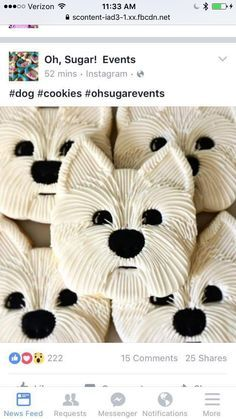 Instead of utilizing white flour in your pet dog cookies or any other homemade canine food, you can utilize entire grains like quinoa, oats and wild rice instead. Deco Cupcake, Cookies Cupcake, Galletas Cookies, Dog Cookies, Fancy Cookies, Cute Cookies, Iced Cookies, Cut Out Cookies, Royal Icing Cookies