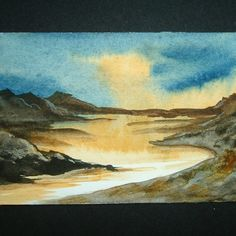 miniature art painting watercolour aceo ref 226 £4.00