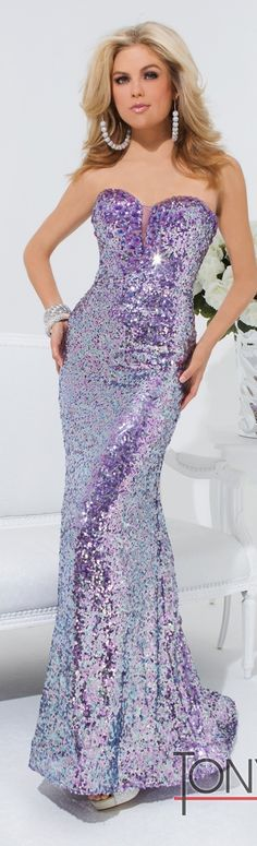 Tony Bowls #Purple #Gown